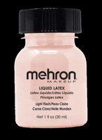 1 oz Light Flesh Colored Latex Mehron Halloween effects Costume makeup