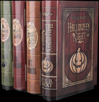 Animated Moving Books Haunted Spell Potions Treats Ghost Witch Halloween Night Prop Decor
