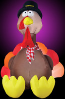 6' tall Lighted Turkey air blown airblown Inflatable Thanksgiving Pilgrim Yard Decor Decoration