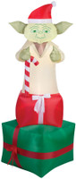 6' tall Lighted Star Wars Yoda Santa air blown airblown Inflatable Christmas Yard Decor Outdoor Decoration