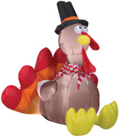 60' tall Lighted Turkey air blown airblown Inflatable Thanksgiving Pilgrim Yard Decor Decoration
