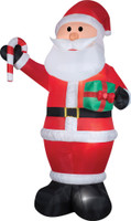 12' tall Lighted Santa Claus Gift Candy Cane air blown airblown Inflatable Christmas Yard Decor Decoration