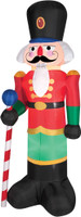 "78"" tall Lighted Red Nutcracker air blown airblown Inflatable Christmas Yard Decor Decoration"