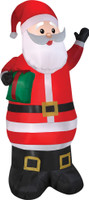 "78"" tall Lighted Santa Claus w/ Present air blown airblown Inflatable Christmas Yard Decor Decoration"