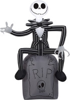 """42"""" tall Lighted Jack Skellington RIP air blown airblown Inflatable Nightmare before Christmas Yard Decor Outdoor Decoration"""