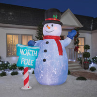 10' tall Kaleidoscope Lighted Giant Snowman air blown airblown Inflatable Christmas Yard Decor Decoration