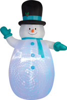 12' tall Projection Lighted Giant Snowman air blown airblown Inflatable Christmas Yard Decor Decoration