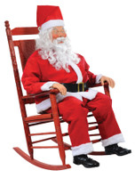 Life Size Animated Rocking Chair Santa Claus Christmas Decor Decoration Prop