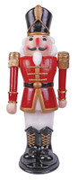 "36"" tall Animated Moves Lights Sounds Red/Wt Nutcracker Christmas Decor Decoration Prop"