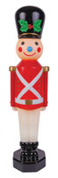 "42"" Vintage Reproduction Toy Soldier Red Blow Mold Lights Christmas Decor Decoration Prop"