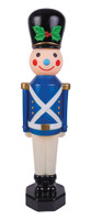 "42"" Vintage Reproduction Toy Soldier Blue Blow Mold Lights Christmas Decor Decoration Prop"
