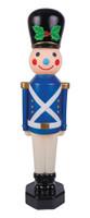 "42"" Vintage Reproduction Toy Soldier Blue Blow Mold Lights Christmas Decor Decoration Prop"