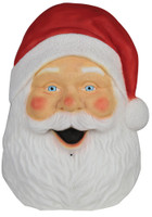 "22"" Santa Face Plaque w Sound Lights Blow Mold Christmas Decor Decoration Prop"