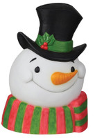 "22"" Snowman Face Plaque w Sound Lights Blow Mold Christmas Decor Decoration Prop"