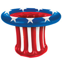 """27"""" Inflatable Patriotic 4th of July Independence  Day Uncle Sam Hat Cooler Decor Decoration"""