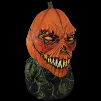 Possessed Pumpkin Man Evil Jack-O-Lantern Fanged Monster Halloween Costume Mask
