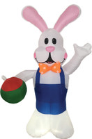 7ft Airblown Inflatable Easter Inflate Bunny Rabbit w Egg Yard Decor Decoration