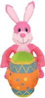 4ft Airblown Inflatable Pink Easter Inflate Bunny Rabbit w Egg Yard Decor Decoration