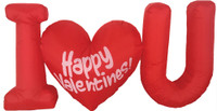 4ft Airblown Red I Love You Heart Inflatable LED Valentines Day Inflate Yard Decor Decoration