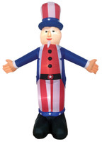 6 ft Airblown Uncle Sam Inflatable Patriotic 4th of July Independence Day Inflate Yard Decor Decoration