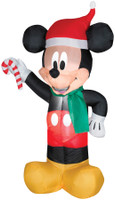 "42"" tall Lighted Micky Mouse Santa Candy Cane air blown airblown Inflatable Christmas Yard Decor Outdoor Decoration"
