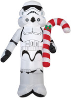 "42"" tall Lighted Star Wars Stormtrooper w Candy Cane C air blown airblown Inflatable Christmas Yard Decor Outdoor Decoration"