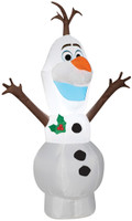 "48"" tall Lighted Frozen Olaf Snowman air blown airblown-Standing Olaf-sm- Inflatable Christmas Yard Decor Decoration"