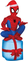 "42"" tall Lighted air blown airblown MSM Spider-man on Present Inflatable Christmas Yard Decor Outdoor Decoration"