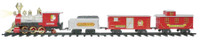 Santa's Jumbo Express Christmas Tree Train Set Track Smoking Sound Light Decor