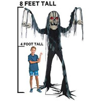 Animated 7 feet tall Life Size Catacomb Creature Halloween Prop Decoration