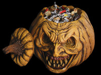 """Life size  16"""" Jack O Licious Party Pumpkin Container Halloween Prop Decoration"""