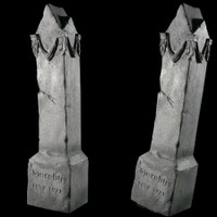 "Animated 48"" Moving Monument Frightronics Graveyard Cemetery Halloween Tombstone Headstone Prop"