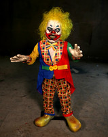 Animated Whacko 4 ft tall Clown Rocks side to side Halloween Prop Decoration