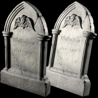 "Animated 36"" Tipping Tombstone Gravestone Frightronics Cross Graveyard Cemetery Halloween Headstone Prop"