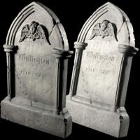 "Animated 36"" Tipping Tombstone Gravestone Frightronics Cross Graveyard Cemetery Halloween Headstone Prop"