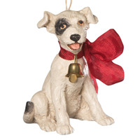 Bethany Lowe Big Bow Puppy Ornament Christmas Saturday Evening Post