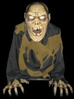 Animated Life Size Bilious Zombie Blowing Fog Halloween Prop Decor FX Effects AC