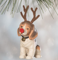 Bethany Lowe On Patches Ornament A Child's Christmas Dog Reindeer Decoration