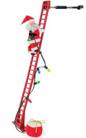 "Animated 40"" Climbing Santa Claus on Ladder Christmas Decor Decoration"