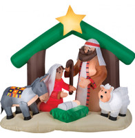 "83"" airblown Holy Family Nativity Scene Inflatable Christmas Yard Decor"