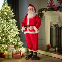 Life Size Animated Dancing Singing Santa Claus Christmas Decoration Prop