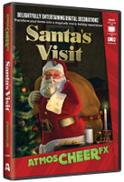 Animated Special Effects Santa's Visit Christmas Projection TV DVD Decor
