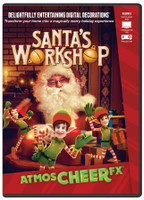 Animated Special Effects Santa's Workshop Christmas Projection TV DVD Decor