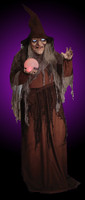 "68"" Life Size Animated Digiteye Soothsayer Witch Halloween Prop Decor"