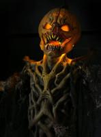 8' Life Size Pumpkin Stalker Light-up Halloween Static Prop Decor