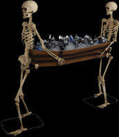 Life Size Skeletons Carrying Coffin Party Refreshments Halloween Prop