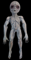 39' tall Life Size area 51 Alien UFO Grey Roswell Display Halloween Prop