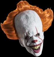 New Pennywise w/ Hair Stephen King's Movie It Novel Clown Halloween Costume Mask