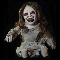 "36"" tall Kimmie Kreepy Kids Posable Creepy Toddler Halloween Prop"