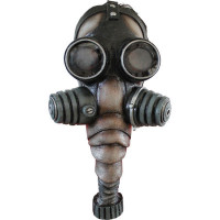 Alien Creepy Hazmat Chemical Black Gas Mask Bio Hazard Halloween Costume Mask
